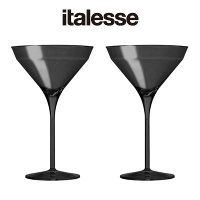 画像1: italesse マティーニグラス 2脚セット/ブラック(プラスチック) (1)