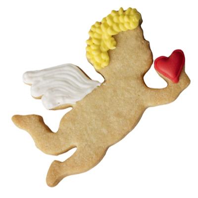 画像1: 〒 クッキー型(BIRKMANN)ハートと飛ぶ天使【ステンレス】 (1)