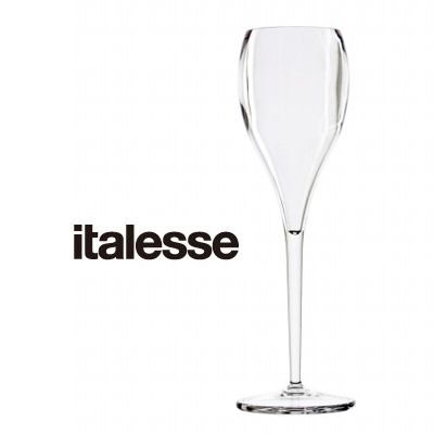 画像1: italesse シャンパングラス/クリア(プラスチック) (1)