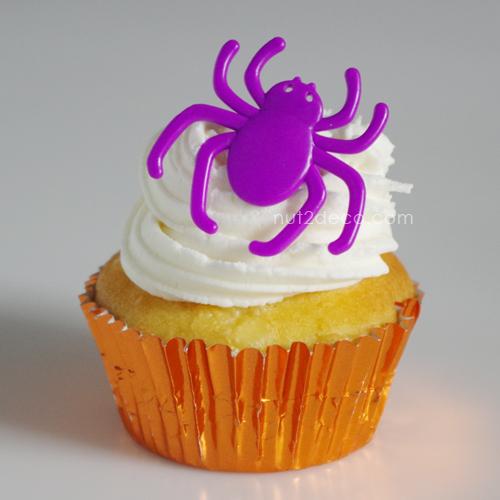 画像1: ケーキリング/クモ(パープル)5個入 (1)