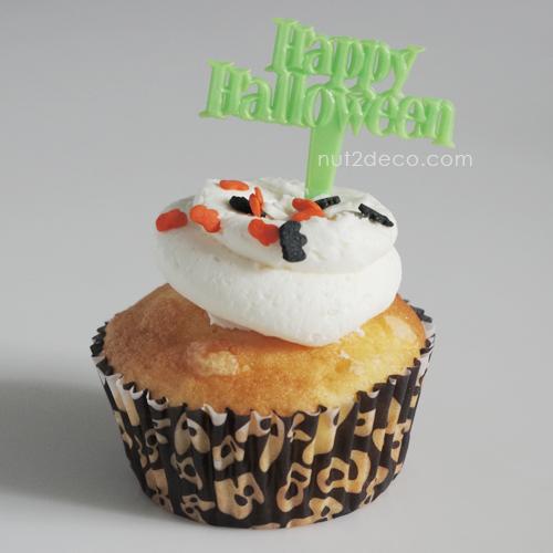 画像1: ケーキピック/Happy Halloween(グリーン)6本入 (1)