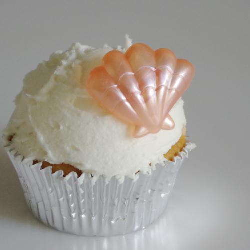画像1: ケーキリング/パール貝殻(ピンク)5個入 (1)