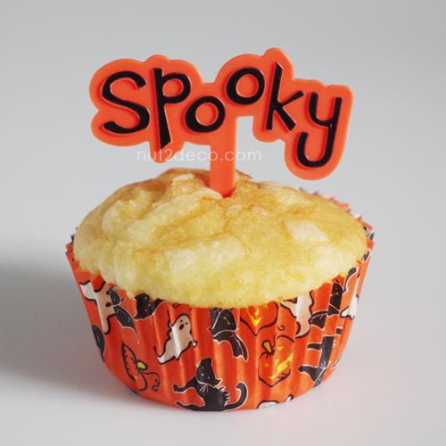 画像1: ケーキピック/spooky(オレンジ)5個入 (1)