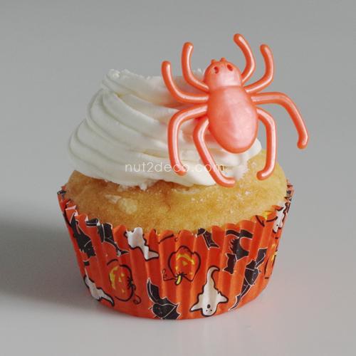 画像1: ケーキリング/クモ(オレンジ)5個入 (1)