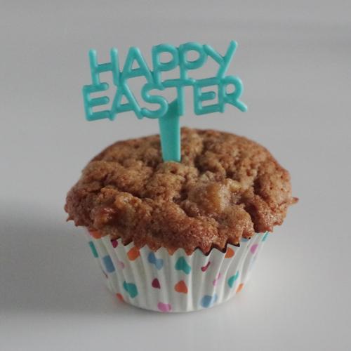 画像1: 〒 ケーキピック/Happy Easter(イースター)ブルー5本入 (1)