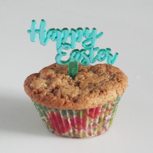 画像1: 〒 ケーキピック/Happy Easter(イースター)グリーン 5本入 (1)
