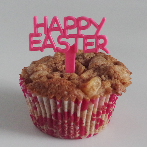 画像1: 〒 ケーキピック/Happy Easter(イースター)サーモンピンク 5本入 (1)
