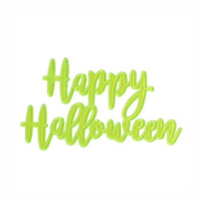 画像1: 〒 ケーキプレート/Happy Halloween(スケルトン・蛍光グリーン)3枚 (1)