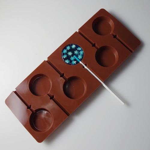 画像1: 〒 シリコン製ロリポッップキャンディ飴型(3.5cm) (1)