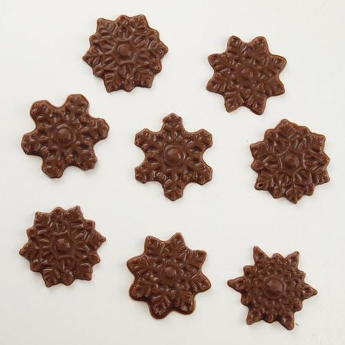 画像1: 〒 CK チョコレート型/雪の結晶28 (1)