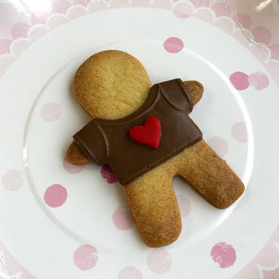 画像1: 〒 チョコレート型+クッキー型(2点セット)ジンジャーマン (1)
