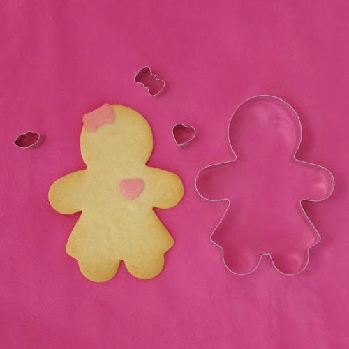 画像1: 〒 クッキー型ドレスアップセット/ジンジャーマンガール (1)