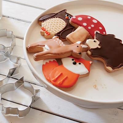 画像1: クッキー型(FoxRun)森の動物5個セット【ステンレス】 (1)