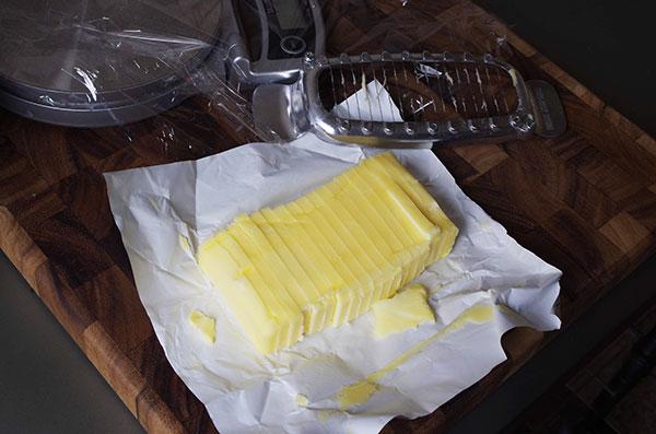バターカッターで切った後