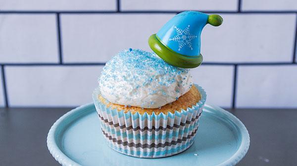 冬のニット帽子カップケーキ
