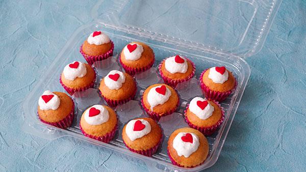持ち運びに便利なカップケーキケース