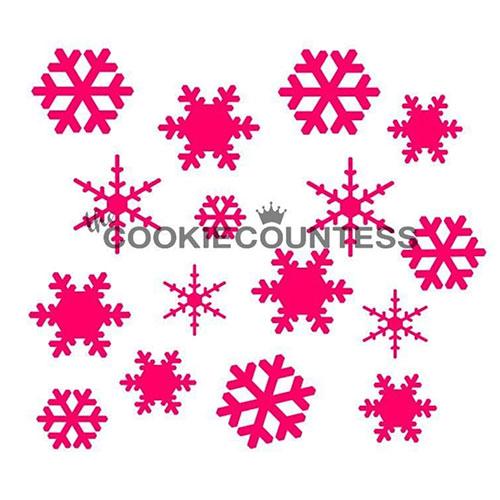 画像1: 〒 CC ステンシル/雪の結晶(ミックス) (1)