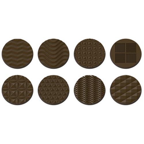 画像1: ポリカーボネート製 チョコレート型/幾何学模様の平丸(7g) (1)