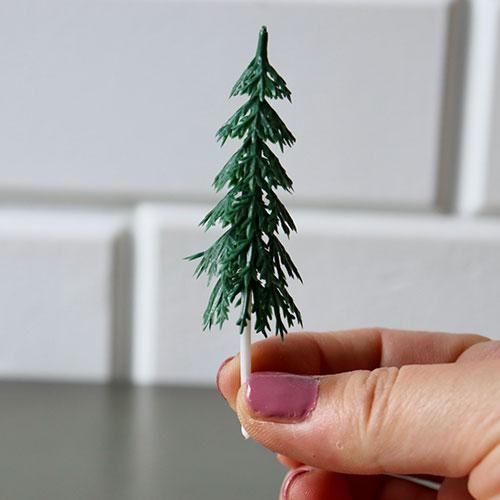 画像1: 〒 ケーキピック/クリスマスツリー 7.8cm(3本入) (1)