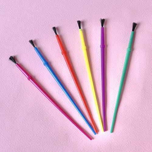 画像1: 〒 チョコ型の着色に最適な筆6本セット (1)
