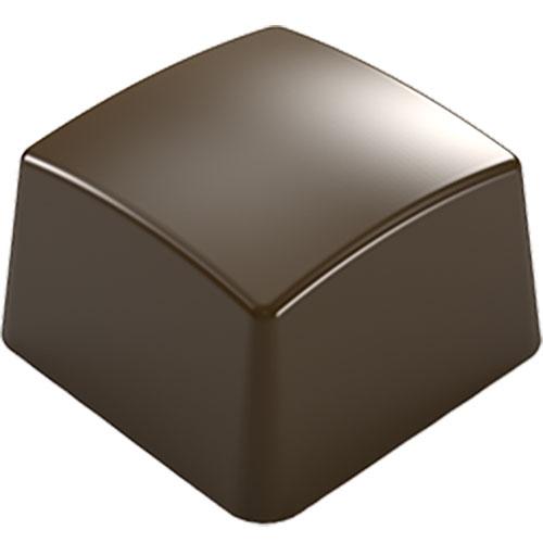 画像1: ポリカーボネート製 チョコレート型/カービースクエア(10g) (1)