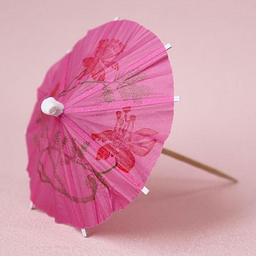 画像1: 〒 ピック/パラソル傘(5本)ピンク (1)