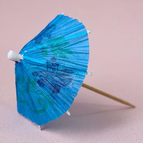 画像1: 〒 ピック/パラソル傘(5本)ブルー (1)