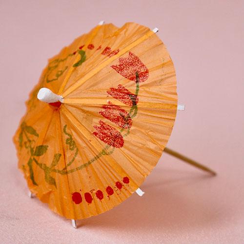 画像1: 〒 ピック/パラソル傘(5本)オレンジ (1)