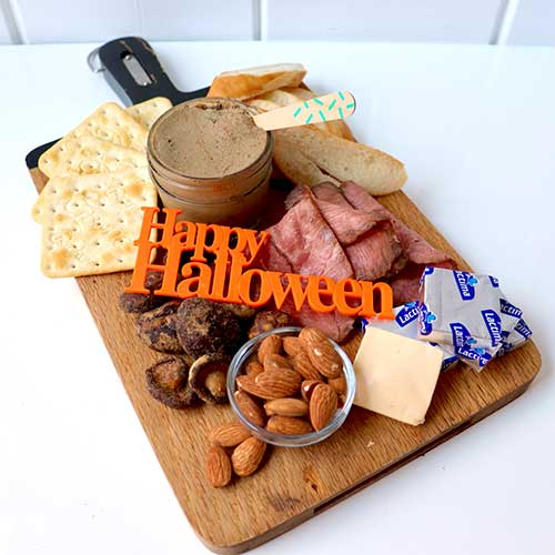 画像1: 〒 ケーキプレート/Happy Halloween(オレンジ)1枚 (1)