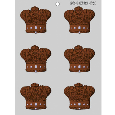画像1: 〒 CK チョコレート型/王妃冠 (1)