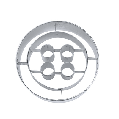 画像1: 〒 クッキー型(Stadter)ボタン 5cm【ステンレス】 (1)