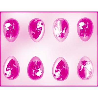 画像1: 〒 CK チョコレート型/ウサギデコレーション卵8 (1)