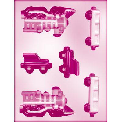 画像1: 〒 CK チョコレート型(立体3D)汽車 (1)