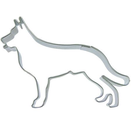 画像1: 〒 クッキー型(Stadter)シェパード犬【ステンレス】 (1)