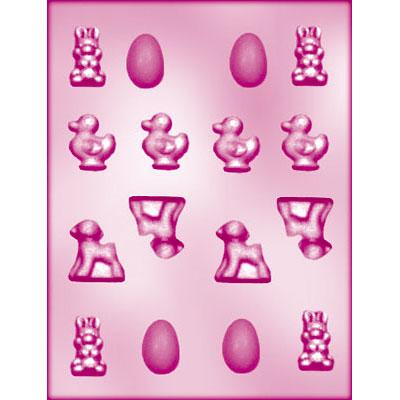 画像1: 〒 CK チョコレート型/卵・アヒル・ウサギ・ヒツジ (1)