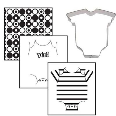 画像1: クッキー型(テクスチャーマット付)ベビー服 (1)
