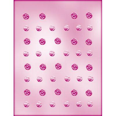 画像1: 〒 CK チョコレート型(プチサイズ)バラ (1)