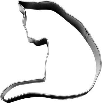 画像1: 〒 クッキー型/ふりむいてるネコ (1)