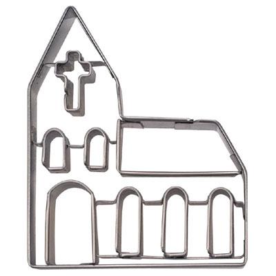 画像1: 〒 クッキー型(Stadter)教会(ステンレス) (1)