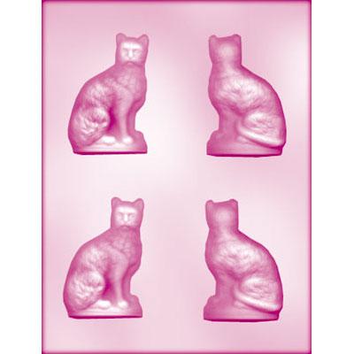 画像1: 〒 CK チョコレート型(立体3D)ネコ (1)