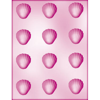 画像1: 〒 CK チョコレート型/貝12 (1)