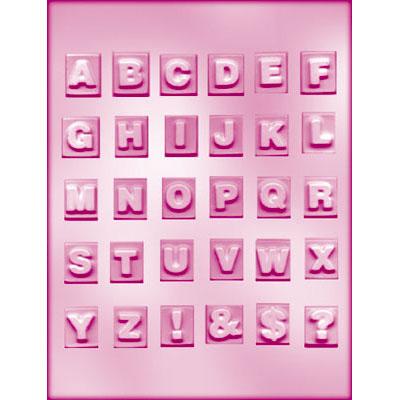 画像1: 〒 CK チョコレート型/英字アルファベット・スクエア (1)