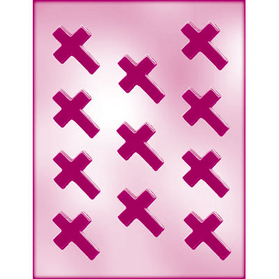画像1: 〒 CK チョコレート型/十字架クロス (1)