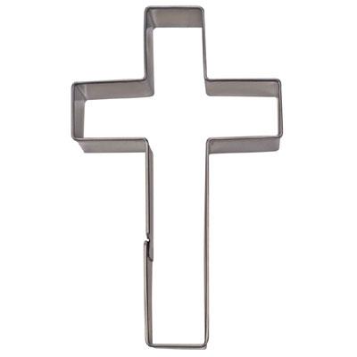 画像1: 〒 クッキー型(Stadter)十字架クロス【ステンレス】 (1)