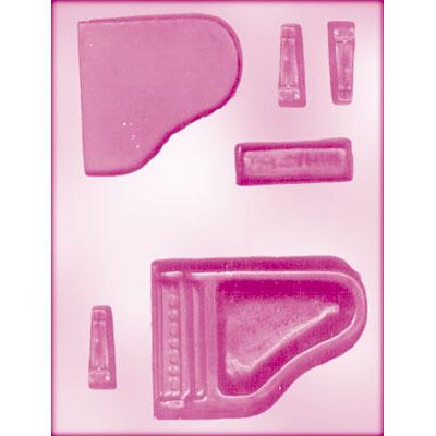画像1: CK チョコレート型(立体3D)ピアノ (1)