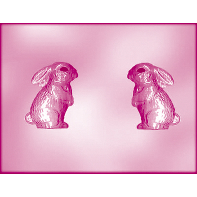 画像1: 〒 CK チョコレート型(立体3D)耳たれウサギ (1)
