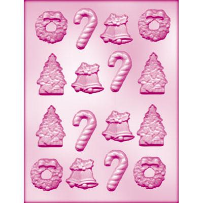 画像1: 〒 CK チョコレート型/クリスマスキャンディ入り4種 (1)