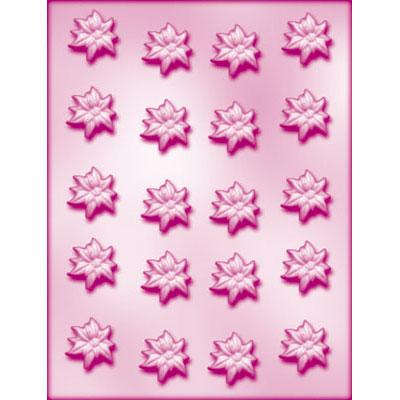 画像1: 〒 CK チョコレート型/ポインセチア20 (1)